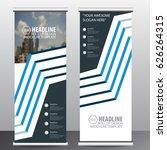 blue roll up business brochure...   Shutterstock .eps vector #626264315