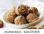 protein balls   no cook energy... | Shutterstock . vector #626270405