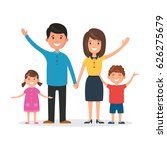 happy family  mom and dad ... | Shutterstock .eps vector #626275679