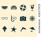 hot icons set. collection of... | Shutterstock .eps vector #626275925
