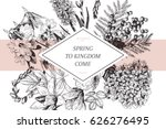 vector hand drawn spring... | Shutterstock .eps vector #626276495