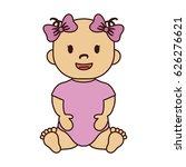cute baby girl icon   Shutterstock .eps vector #626276621