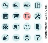 industry icons set. collection... | Shutterstock .eps vector #626277581