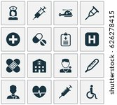 drug icons set. collection of... | Shutterstock .eps vector #626278415