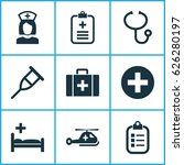 drug icons set. collection of... | Shutterstock .eps vector #626280197