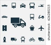 transportation icons set.... | Shutterstock .eps vector #626280215
