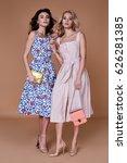 Two Beauty Woman Model Wear...