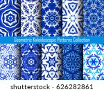 blue backgrounds. geometric... | Shutterstock .eps vector #626282861