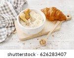 porridge with bananas and... | Shutterstock . vector #626283407