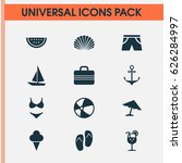 sun icons set. collection of ... | Shutterstock .eps vector #626284997
