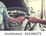 at the auto service. cropped... | Shutterstock . vector #626286575