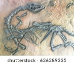 Replica Dinosaur Fossil On The...