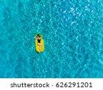 top view of brunette woman... | Shutterstock . vector #626291201