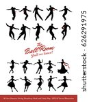 twenty jazz dancers. swing ... | Shutterstock .eps vector #626291975