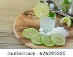 beverage made from lemon soda... | Shutterstock . vector #626295335