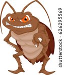 angry cockroach cartoon | Shutterstock .eps vector #626295569