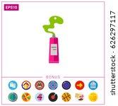 art paint tube icon | Shutterstock .eps vector #626297117