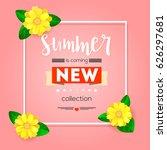 summer new collection banner....   Shutterstock .eps vector #626297681