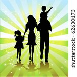 happy family walking together | Shutterstock .eps vector #62630173