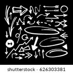 set of hand drawn arrows on... | Shutterstock .eps vector #626303381