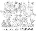 fairy tale. two cute fairies... | Shutterstock . vector #626306969