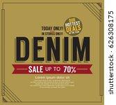 denim sale promotion banner... | Shutterstock .eps vector #626308175