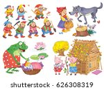 small set of fairy tale... | Shutterstock . vector #626308319