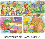 small set of fairy tale... | Shutterstock . vector #626308484