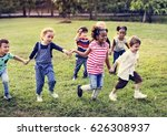 happiness group of cute and... | Shutterstock . vector #626308937