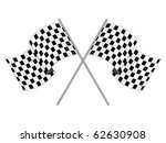 racing flag on white background | Shutterstock . vector #62630908