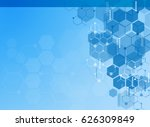abstract molecules medical... | Shutterstock .eps vector #626309849