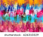 brush strokes color trickle