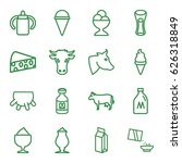milk icons set. set of 16 milk... | Shutterstock .eps vector #626318849