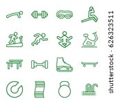 exercise icons set. set of 16... | Shutterstock .eps vector #626323511