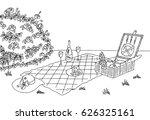 picnic graphic black white...   Shutterstock .eps vector #626325161