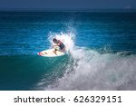 surfer. leap on the wave.... | Shutterstock . vector #626329151
