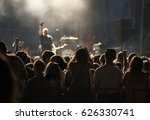 crowd of fans at an open air... | Shutterstock . vector #626330741