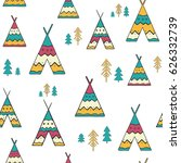 seamless pattern with hand... | Shutterstock .eps vector #626332739