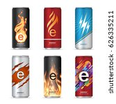 energy drink can design | Shutterstock .eps vector #626335211