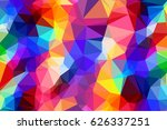 multicolor geometric rumpled... | Shutterstock .eps vector #626337251