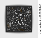save the date collection with... | Shutterstock .eps vector #626350145