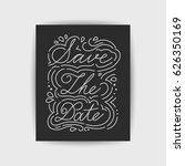 save the date collection with... | Shutterstock .eps vector #626350169
