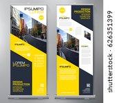 business roll up. standee... | Shutterstock .eps vector #626351399