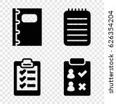notepad icons set. set of 4... | Shutterstock .eps vector #626354204