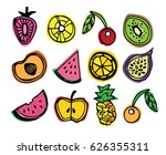 hand drawn doodle lllustration... | Shutterstock .eps vector #626355311