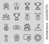 achievement icons set. set of... | Shutterstock .eps vector #626356751