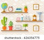 home decor  houseplants and... | Shutterstock .eps vector #626356775