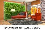 interior living room. 3d... | Shutterstock . vector #626361599
