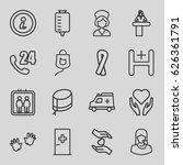 help icons set. set of 16 help... | Shutterstock .eps vector #626361791