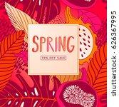spring sale banner  sale poster ...   Shutterstock .eps vector #626367995